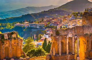Ruins in Taormina in eastern Sicily