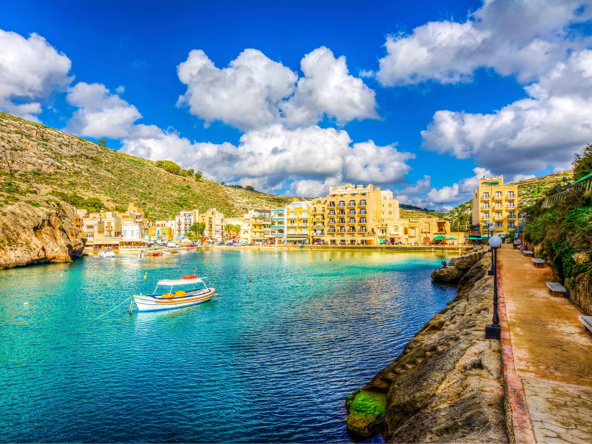 The harbour in Gozo in Malta