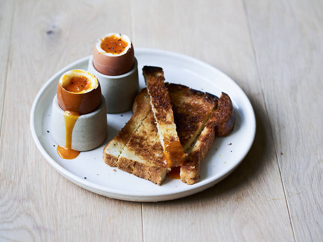 Egg and soldiers at Crispin, London