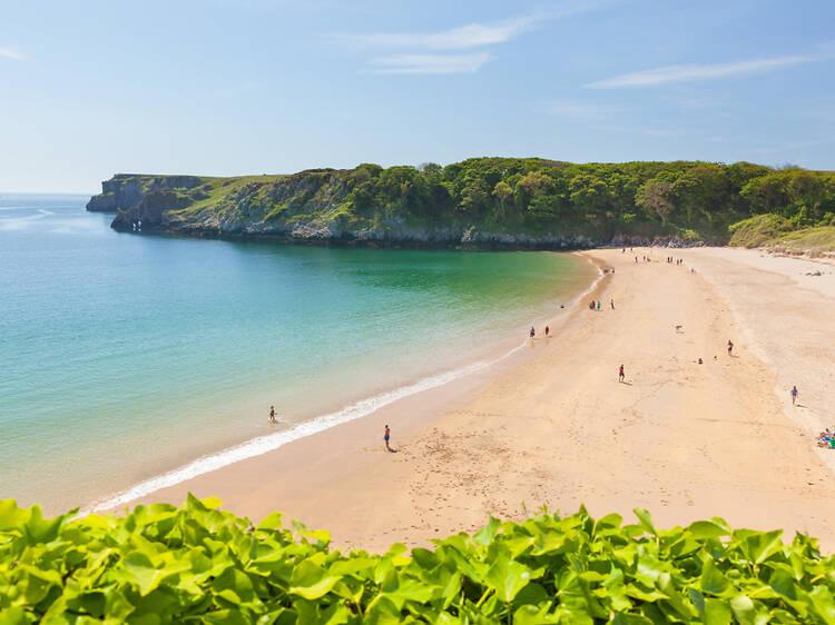 7. Barafundle Bay, Pembrokeshire, Gales