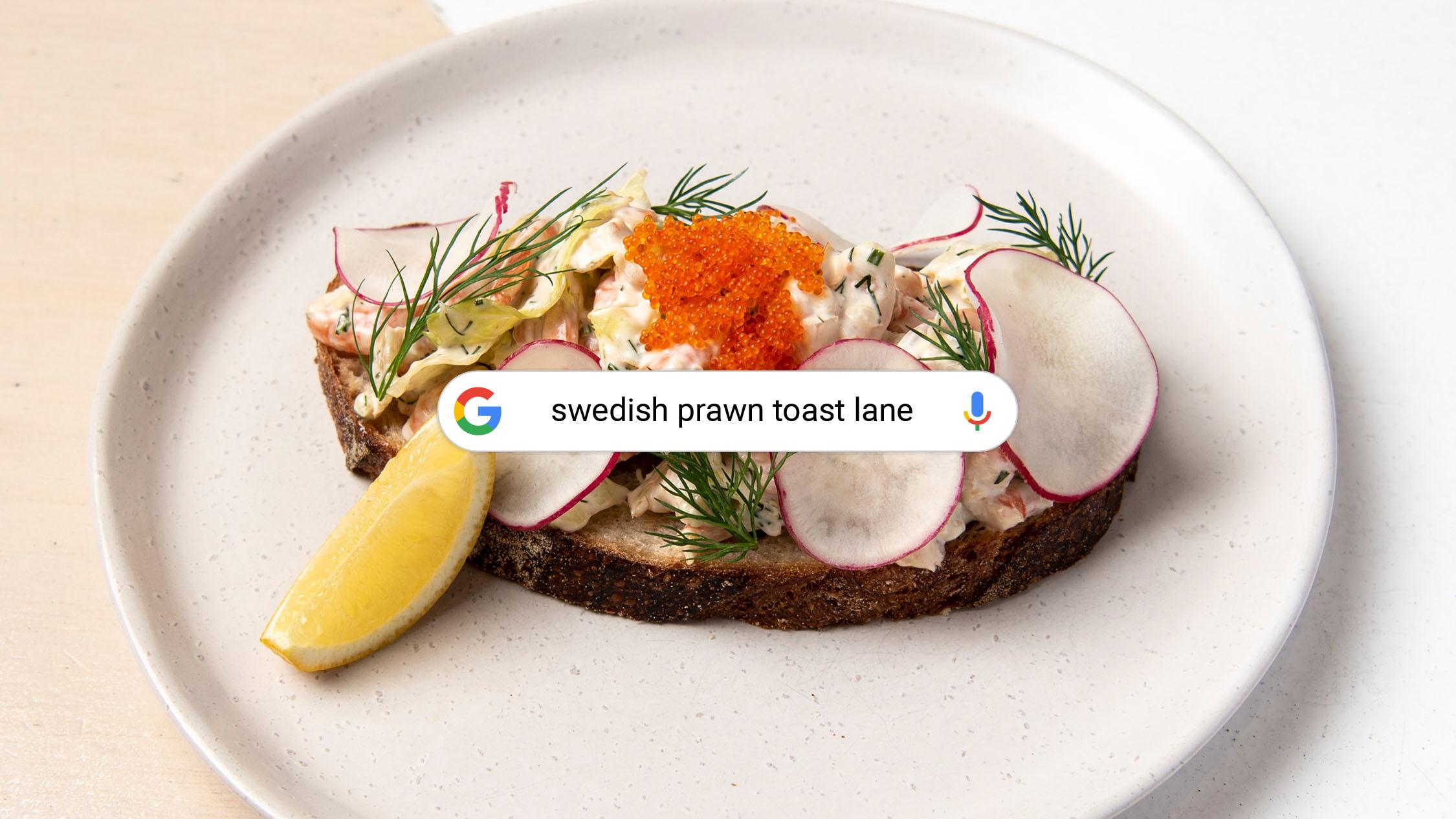 Toast Skagen at Fika Swedish Kitchen