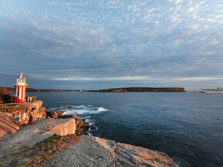 Watch the sunset from the Hornby Lighthouse