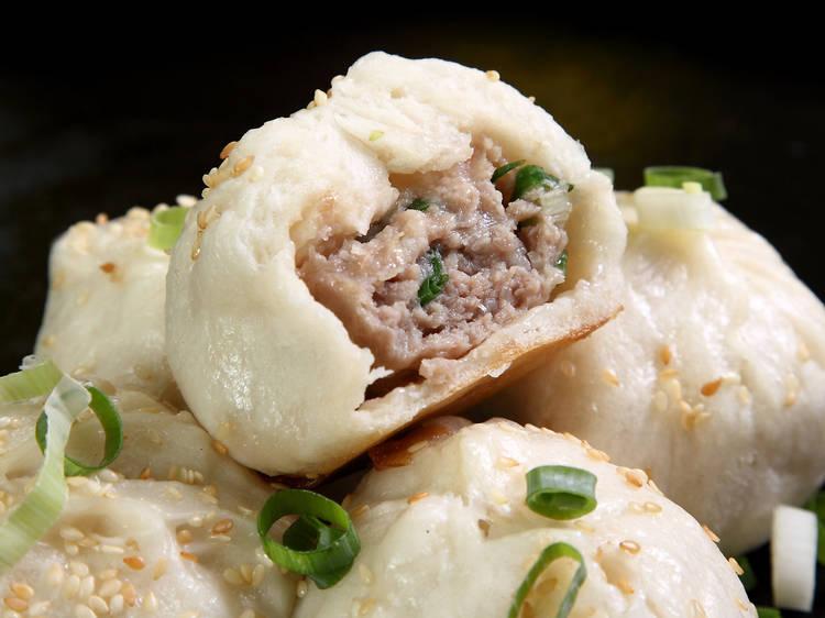 Sheng jian bao (Fried Pork Buns)