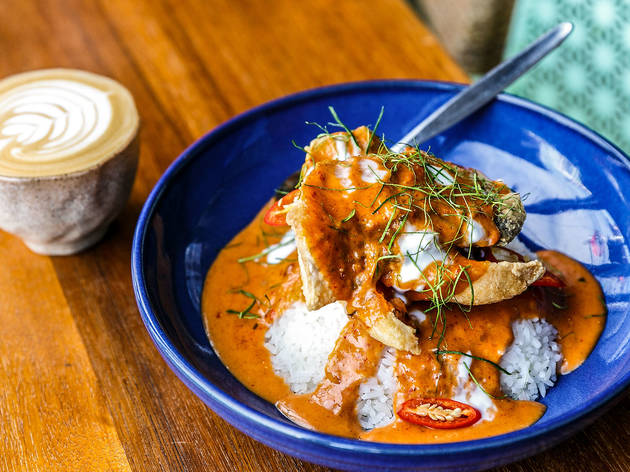 Rice dish at Oneyada Thai Cafe