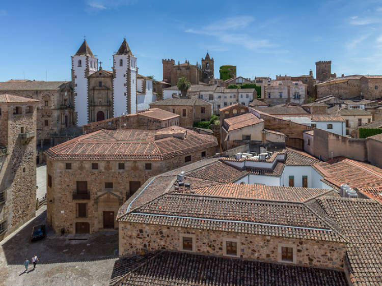 El casco histórico de Cáceres