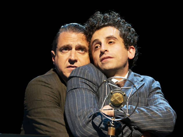 Raúl Esparza and Brandon Uranowitz in Road Show