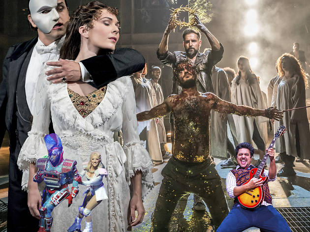 Andrew Lloyd Webber shows collage
