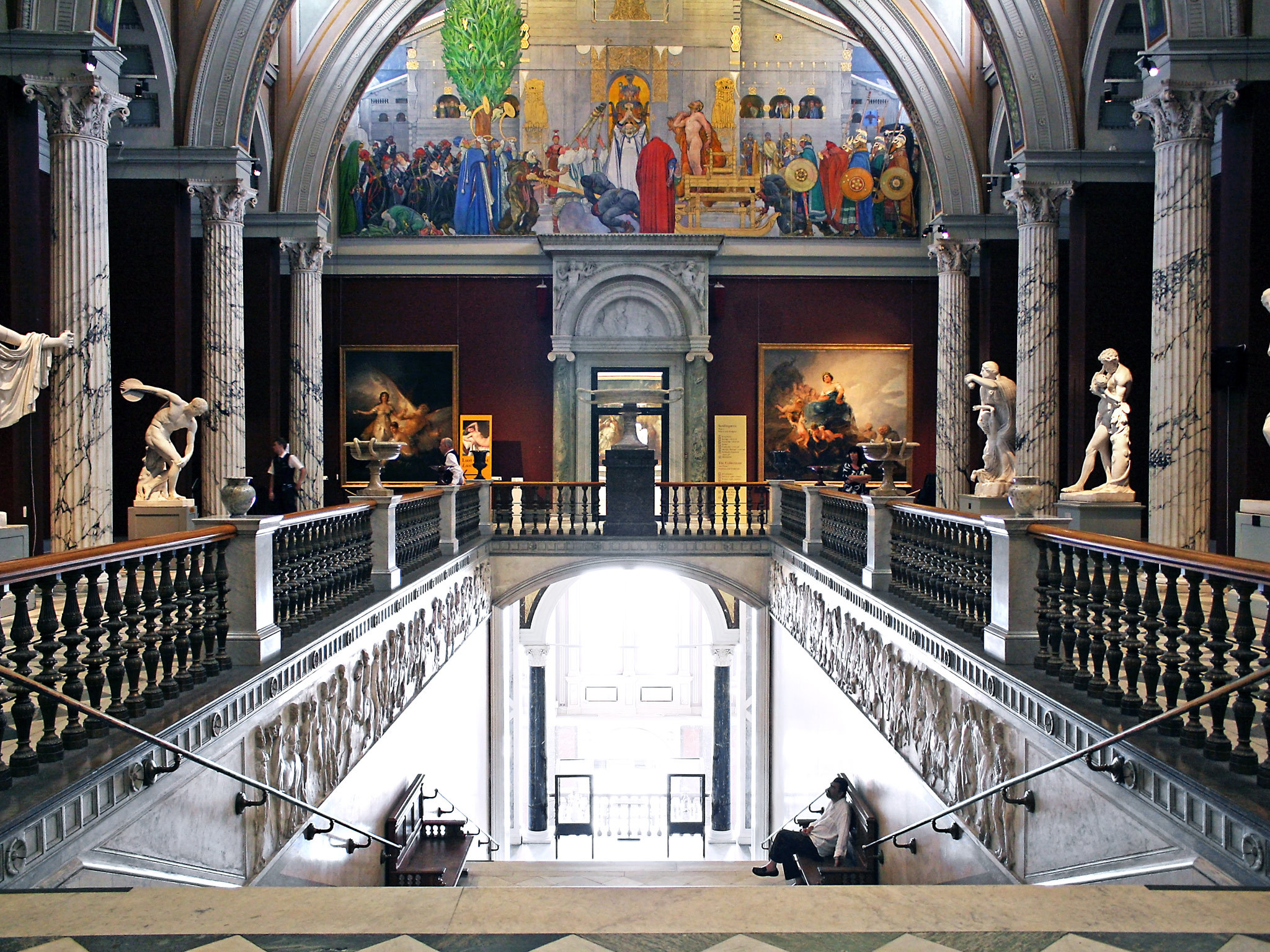 A grand hall at the Nationalmuseum in Stockholm