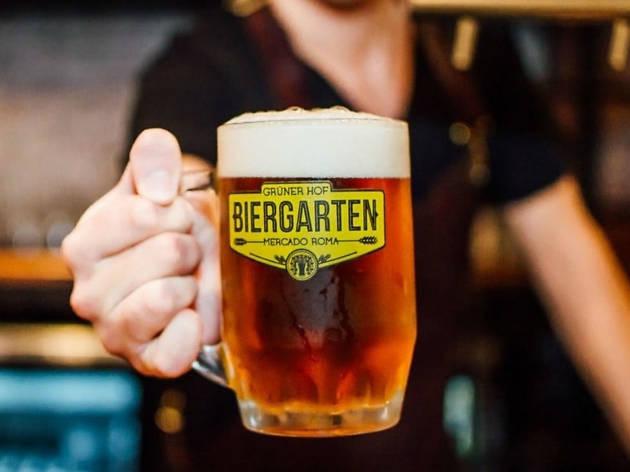 biergarten cerveza cervecería