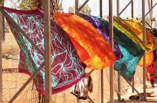 Batik Desert Lines Bendigo Art Gallery 2019 supplied