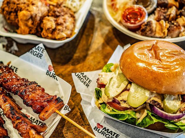 Dishes at Mate Burger