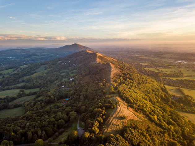 The Malvern hills, UK