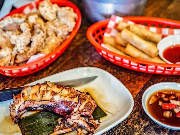 Filipino dishes at Mama Lor
