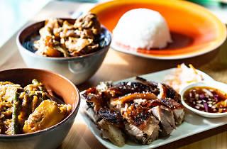 Lechon and other Filipino dishes at Cebu Lechon