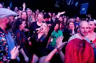 Choir-2K people singing at Club Fringe