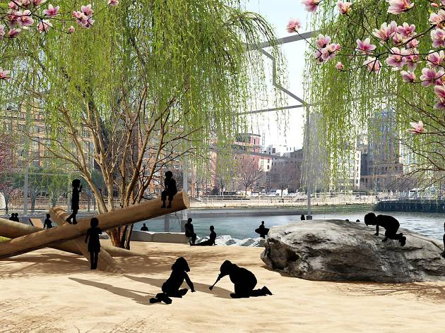 Here's what Manhattan's first-ever public beach will look like