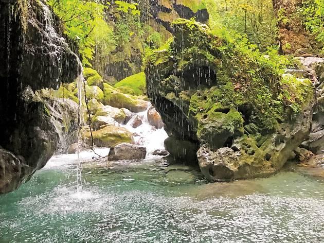 Río Escanela puente de dios en querétaro