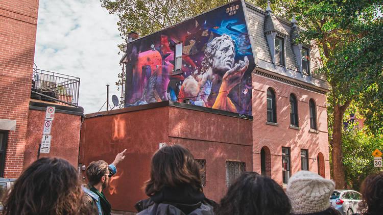 Montréal Mural Tour by Spade & Palacio Tours   MURAL festival - Dodo Ose (2017)