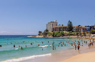 People swimming in the water at Cronulla Beach