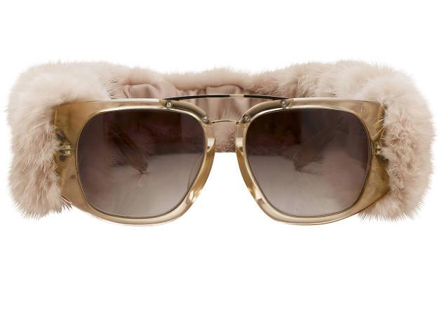 Alexander Wang Mink Fur Sunglasses