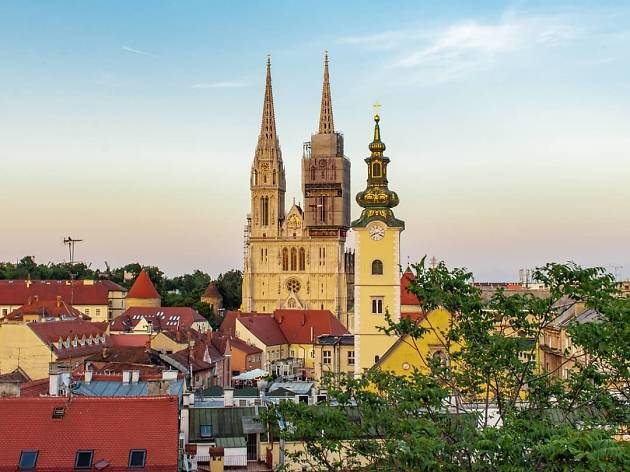 Part Of The Zagreb Cathedral S North Tower Is Removed