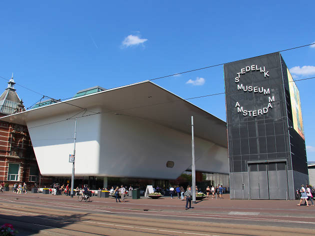 The exterior of Stedelijk Museum in Amsterdam