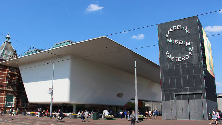 The exterior of Stedelijk Museum in Amsterdam