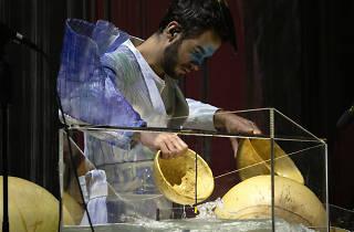 Manu Delago en Cornucopia de Björk