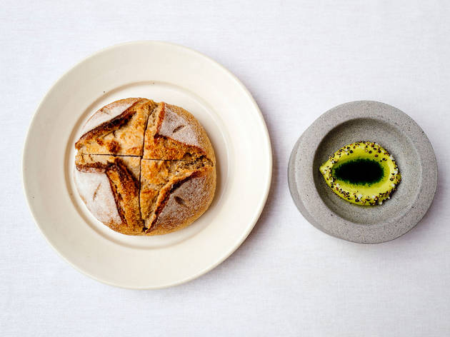 <p>Country bread with avocado butter</p>