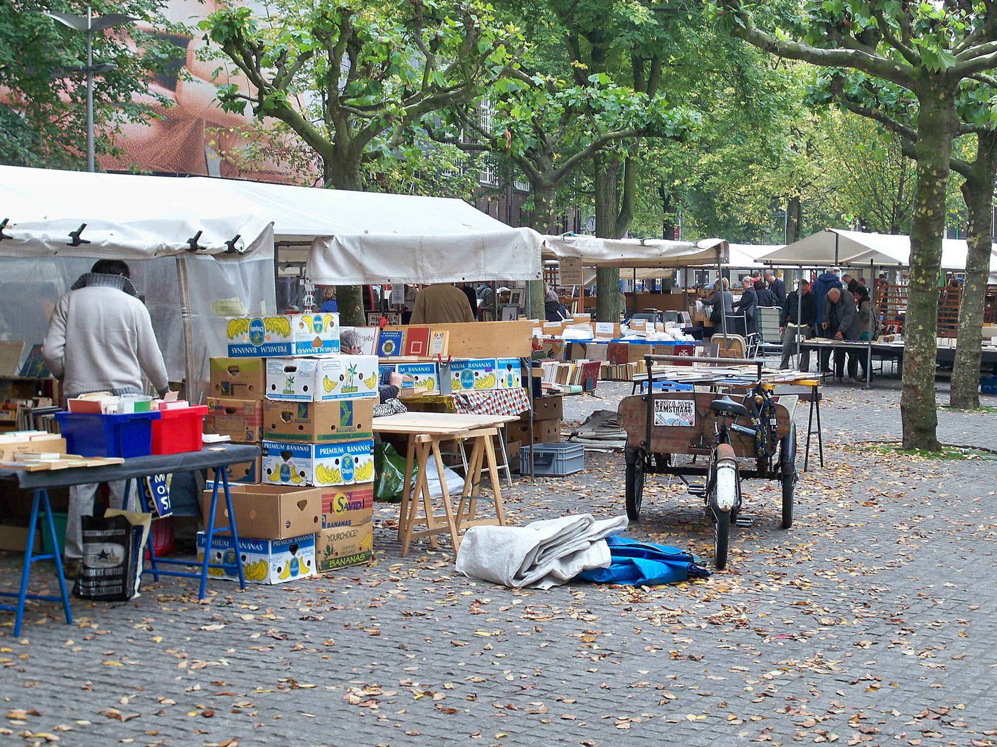 A book market on Spui square