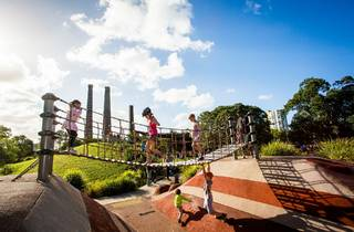 Children enjoying a day at the playground located at Sydney Park, St Peters