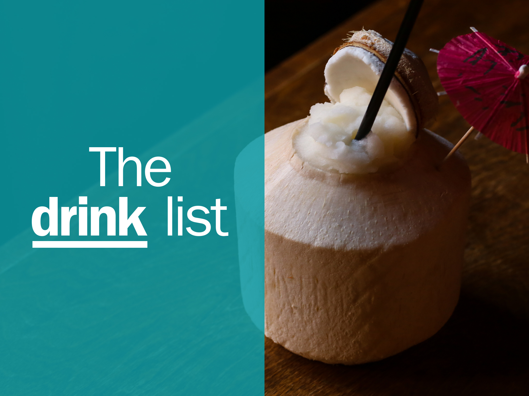 New Orleans drink list