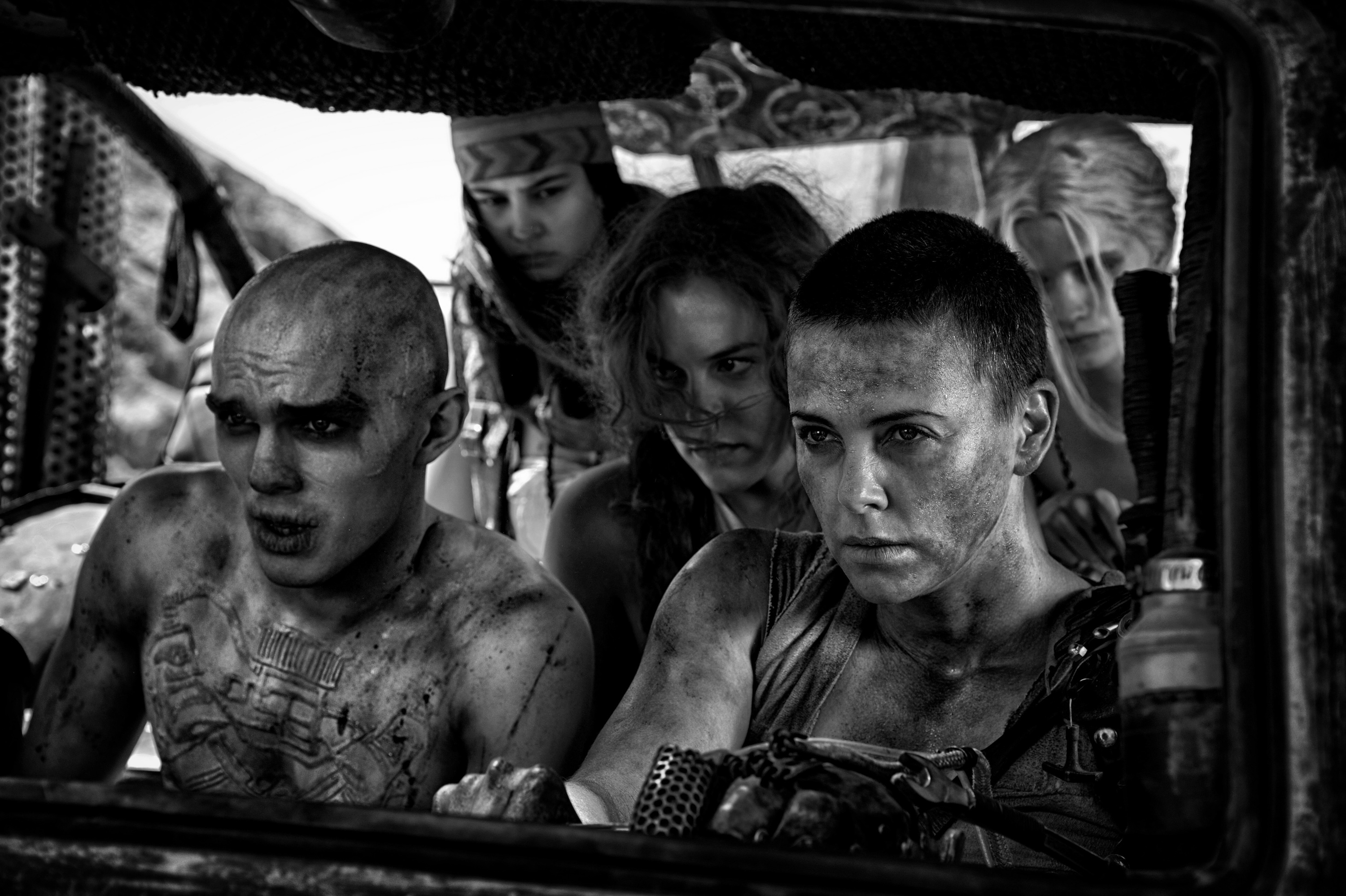 Charlize Theron in Mad Max: Fury Road – Black and Chrome Edition