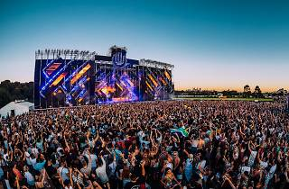 A crowd of people at Ultra music festival.