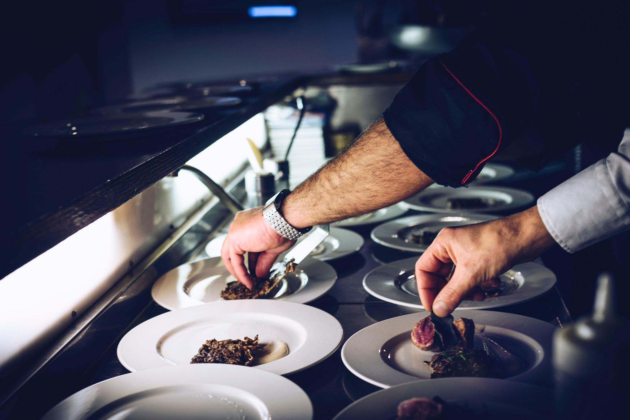 Chef hands stock