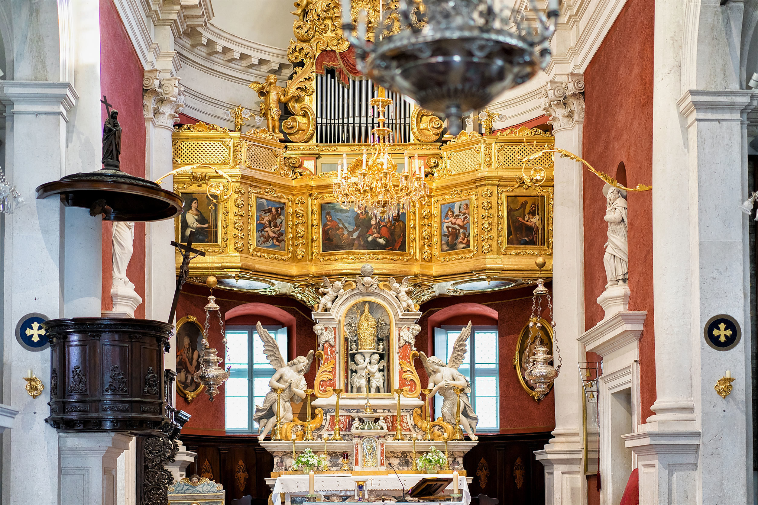 Interior of St Blaise Church in Dubrovnik