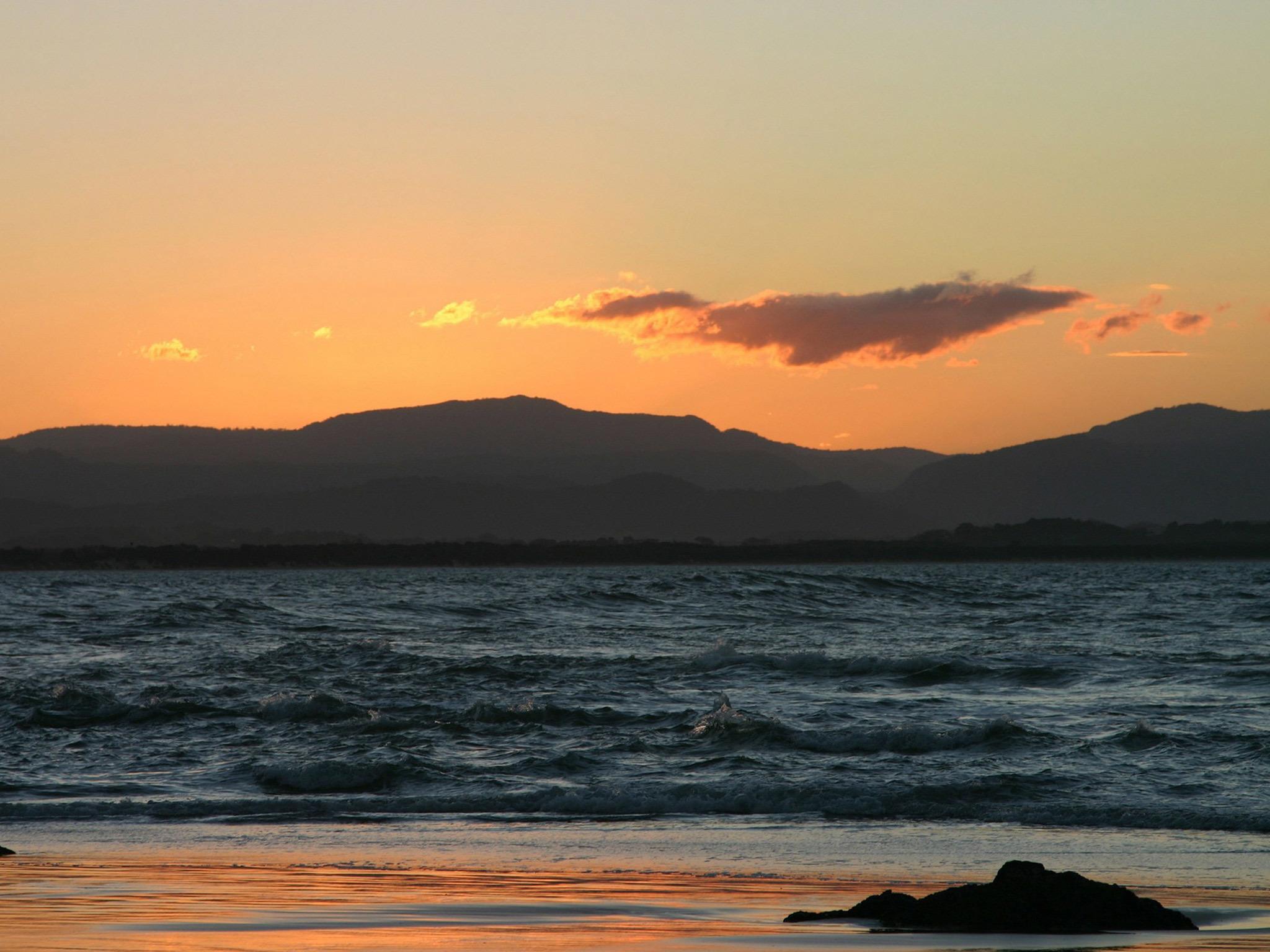 Sunset over Almanarre beach in Hyères
