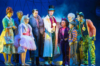Still of Charlie and the Chocolate Factory cast  in costume