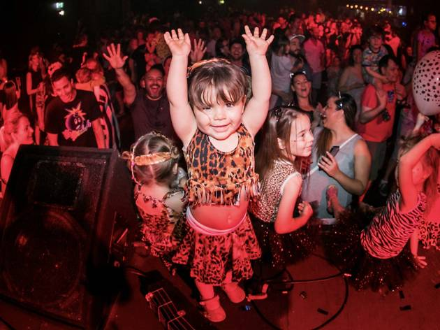 Child dancing at Big Fish Little Fish family rave