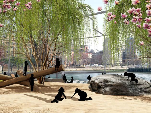 Manhattan is finally getting its first public beach