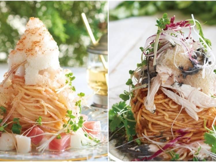 スパゲッティかき氷