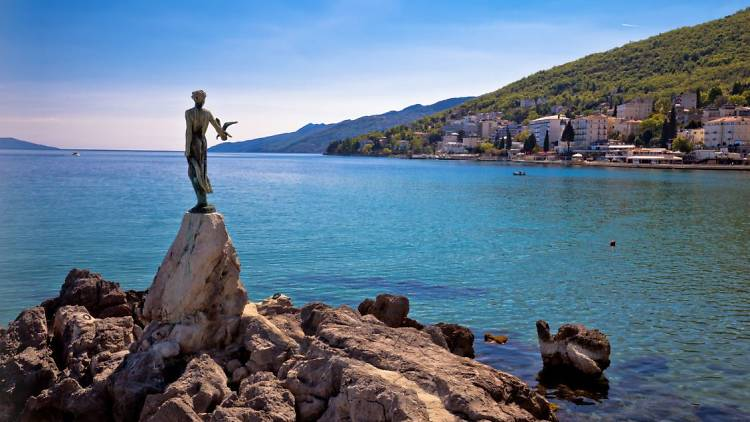 The Maiden with the Seagull in Opatija
