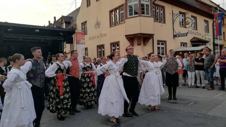 Folklore performance in Vinkovci