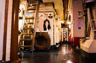 Inside the Navy Destroyer HMAS Vampire at the Australian National Maritime Museum.