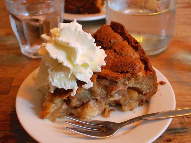 An apple pie at Winkel 43 café in Jordaan