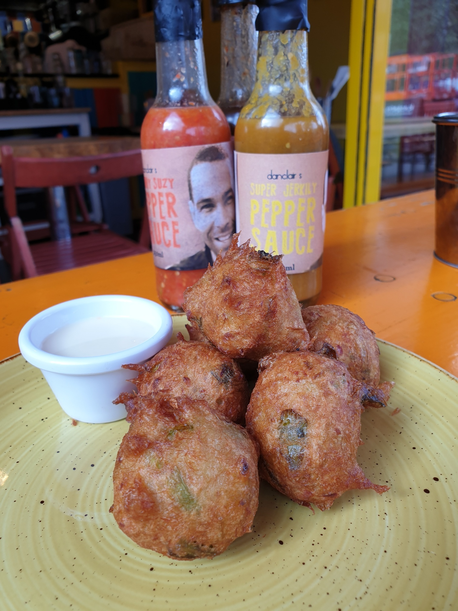 Cod Fritters at Fish Wings and Tings
