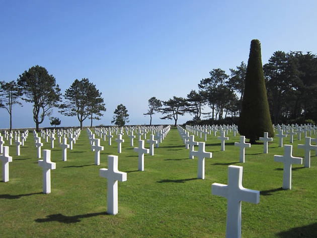 Omaha beach cemetery in Normandy