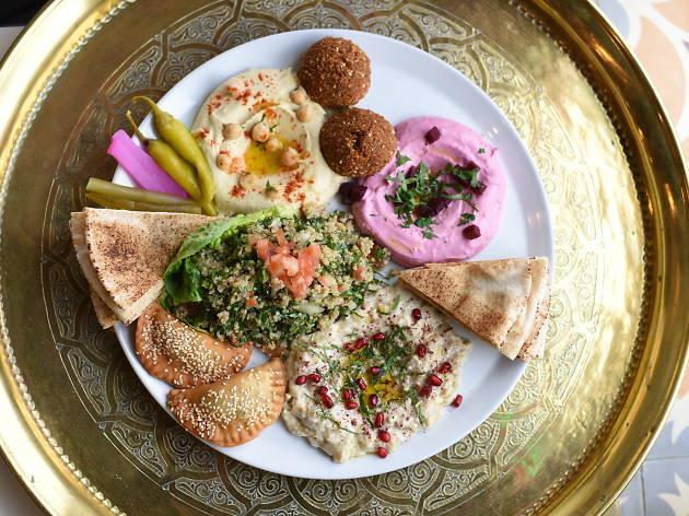 Mezze platter at Comptoir Libanais