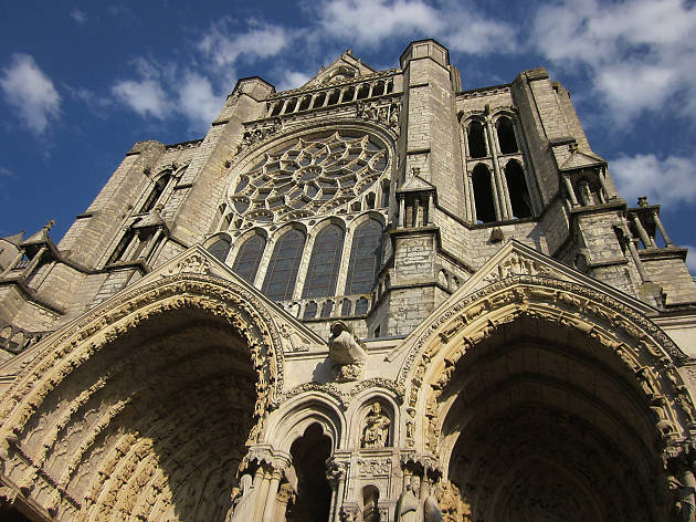The façade of Notre-Dame cathedral in Chartres, France