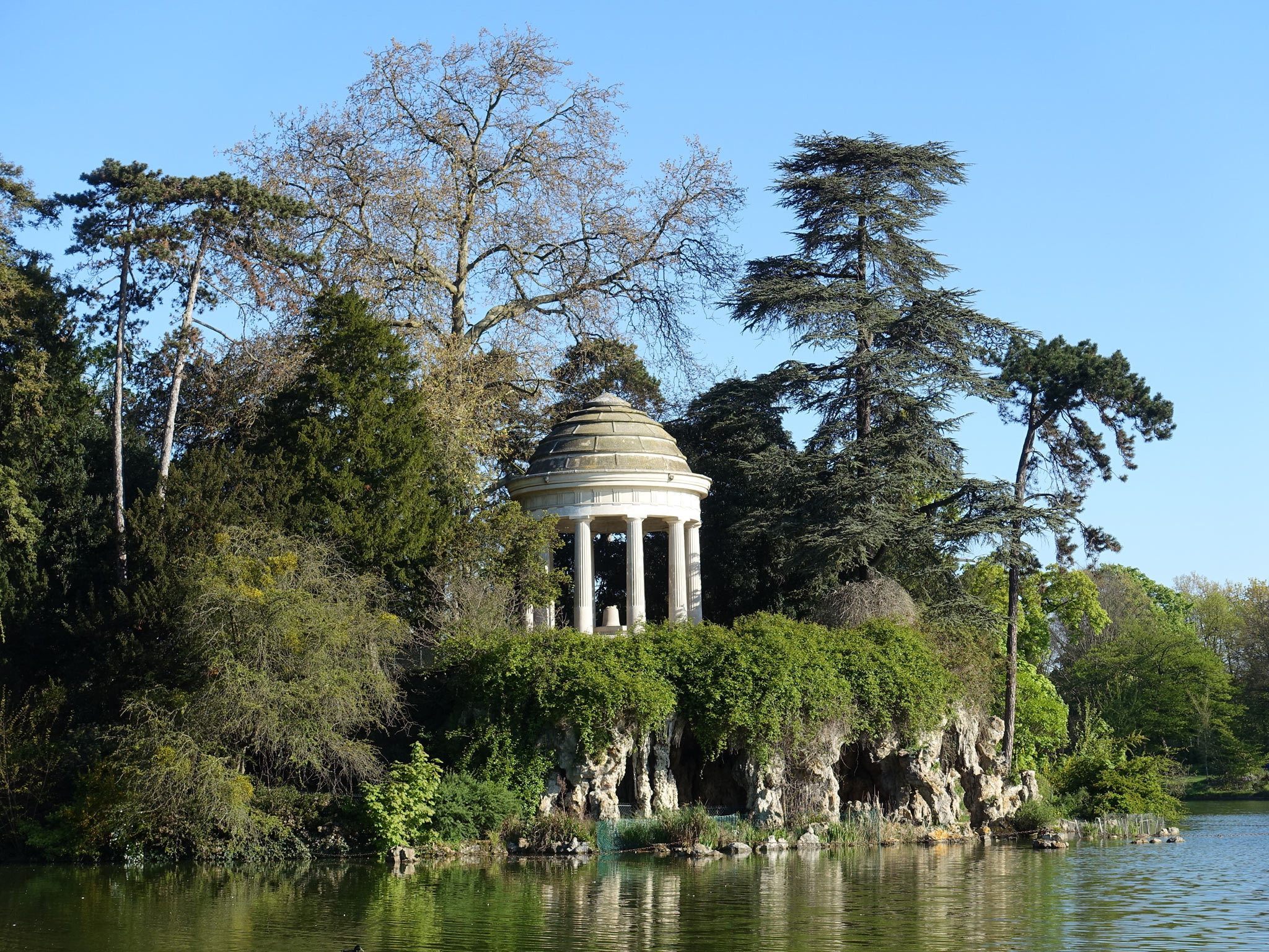 A folly in the Bois de Vincennes just outside Paris